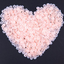 Matte Pink Flower Sequins 6mm Cup PVC Paillettes Loose Lentejuelas for Needlework Craft Sewing Fittings Costume Jewelry 20g/lot(China)