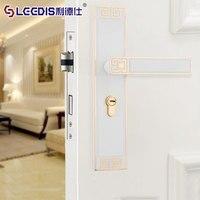 European Ivory White Bedroom Door Lock