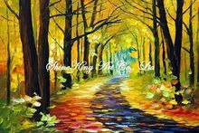 handmade landscape knife oil painting K119