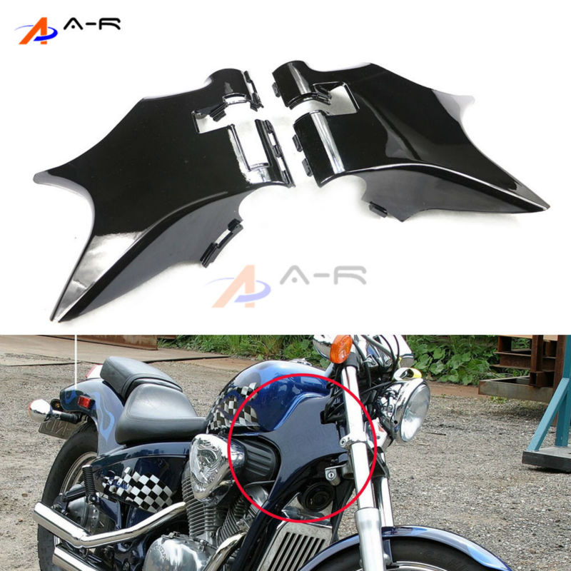 Motorcycle ABS Plastic Frame Neck Cover Cowl For Honda Shadow VT600 VLX 600 STEED400 for 88 98 honda shadow vt600 vlx 600 steed 400 motorcycle abs plastic frame neck cover cowl wire covers side frame guard black