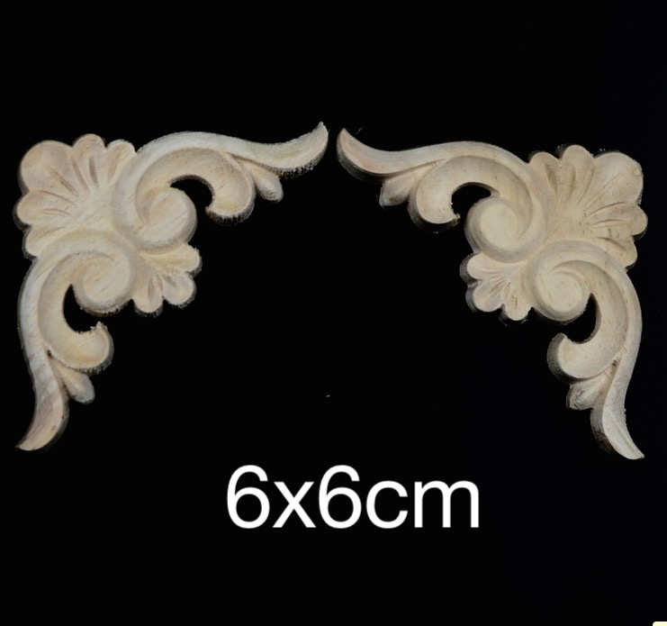 8PCS/LOT 7x7cm European Solid Rubber Wood Carved Door Cabinet Trim 1 3 1 4 bjd doll wigs high temperature wire long wavy hair for dolls new design synthetic doll hair accessories for dolls