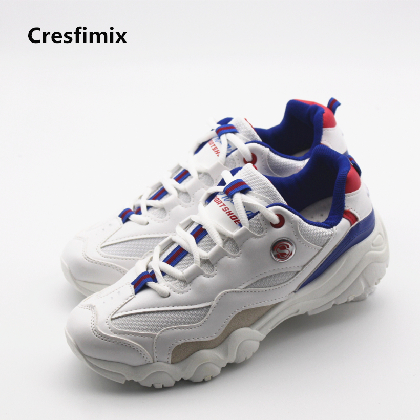 Cresfimix women cute pu leather shoes lady spring & autumn comfortable shoes sapatos femininos female lace up cool outdoor shoes cresfimix women cute spring