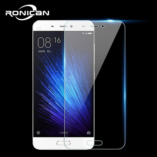 RONICAN Tempered Glass for Xiaomi Mi 5 Mi5 Screen Protector 9H 2.5D 0.26MM Protection Film for Xiaomi Mi5 Tempered Glass case