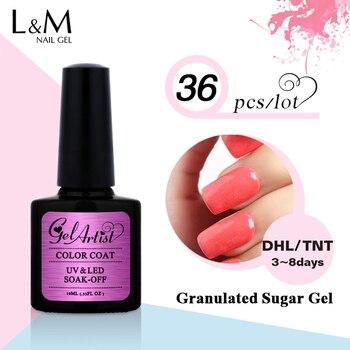 36 Pcs Free Shipment Gelartist Granulated Sugar Series Gel Nail Polish soak off UV Led lamp sugar colorful gel nail polish