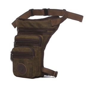 Image 3 - Mens Waterproof Canvas Waist Drop Leg Bag Fanny Pack Thigh Hip Bum Belt Motorcycle Military Tactical for Travel Riding Hiking