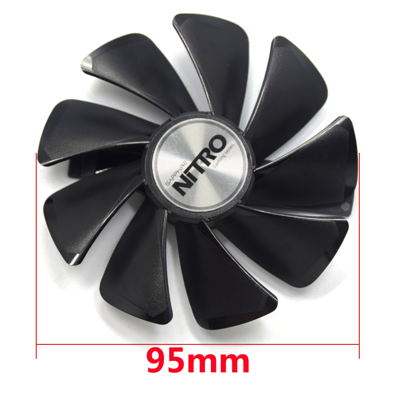 все цены на 95mm CF1015H12D Gear LED DC12V Cooler Fan Replace for Sapphire NITRO RX480 8G RX 470 4G GDDR5 RX570 4G / 8G D5 RX580 8G OC онлайн