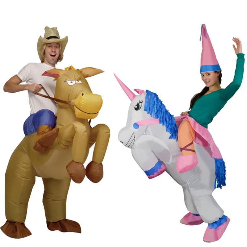 Disfraces de Halloween para hombres adultos vaquero inflable Pegasus Cosplay f094082c154e
