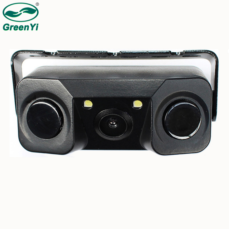 e8e84cbe1b9 GreenYi Car Parking Assistance CMOS Rear View Reverse Backup Camera with  Video Parking Sensor to Show Distance Night Vision