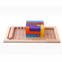 Katamino Education Board Game 12 PCS Colorful Wooden Family/Party nteresting Cards Game Entertainment
