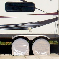 1 pair High quality vinyl RV wheel covers for tire diameters 27 to 29 up to 11 deep tires Protection Cover