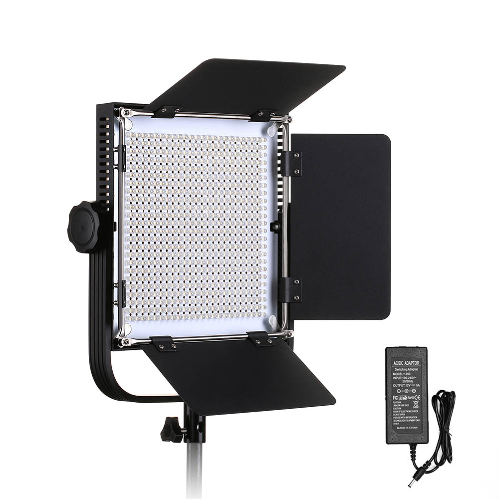 660A Professional LED Video Light With Metal Frame U Bracket 576 LED Beads For Studio YouTube Outdoor Video Photography Lighting