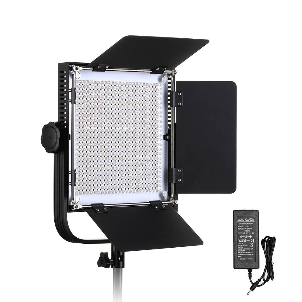 660A Professional LED Video Light with Metal Frame U Bracket 576 LED Beads for Studio YouTube Outdoor Video Photography Lighting контейнер gensini цвет прозрачный 10 л