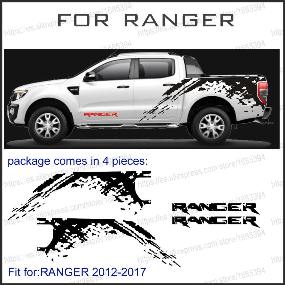 Car stickers 4pc mudslinger side body rear tail trunk graphic vinyl car accessories decal custom for