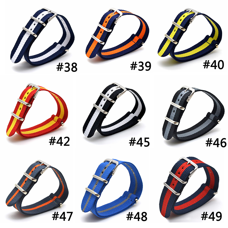 9 COLOR AVAILABLE Men Women Fabric Nylon Watch Bands Strap 16 18 20 22 24mm Top Quality 2017 Nato Army Sports Buckle top brand luxury men watch band straps red 16 18 22 24mm bracelet nato fabric nylon watchbands strap bands buckle belt