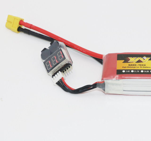 New Lipo battery Voltage Indicator volt meter monitor buzzer Alarm 1-6S 3.7V-22.2V 3.7V 7.4V 11.1V 14.8V 18.5V 22.2V