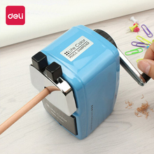 Deli 0620 metal sharpener good quality fashion office stationary mechanical manual pencil can be fixed on table