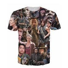 цена на 2015 New Arrive The Walking Dead Paparazzi T-Shirt Rick Grimes Carl Daryl Michonne zombies 3d summer style tee t shirt women men