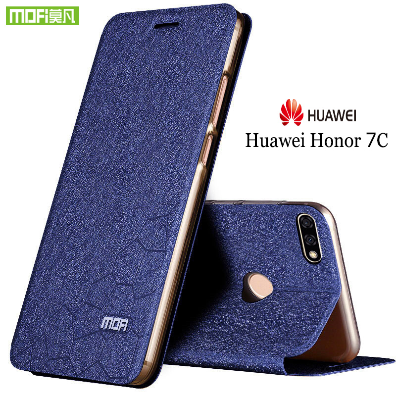 Mofi For Huawei honor 7c case flip leather for huawei honor 7c pro case silicone Honor 7C case Honor 7C Pro case TPU funda 5.7