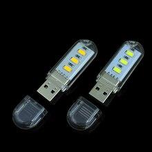 1Pcs New Mini 3 LEDs 5730 SMD LED USB lamp Book lights Camping Bulb Nightlight For PC Laptops Notebook Reading Night light(China (Mainland))