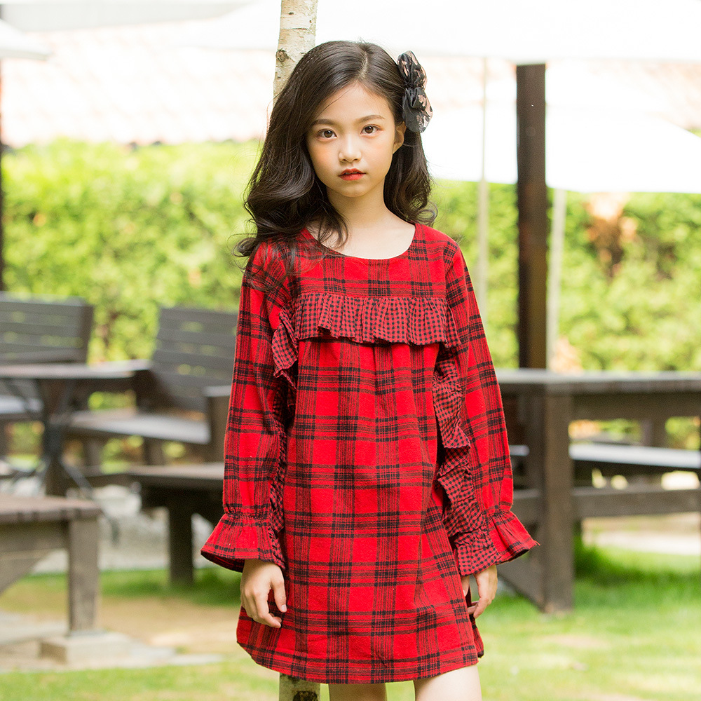 teenage girls plaid clothes autumn girl dress long sleeve children dress kids dresses for girls size 3 4 6 7 8 9 10 11 12 13 14 kids dress autumn girls princess dresses korean teenage baby girls dress cotton long sleeve bow children costume 6 8 10 12 years