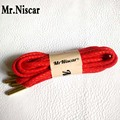 Mr.Niscar 1 Pair 120cm/160cm Metallic Head Gold Thread Shoelaces Round Rope Laces Outdoor Climbing Casual Trainer Red Shoe Laces