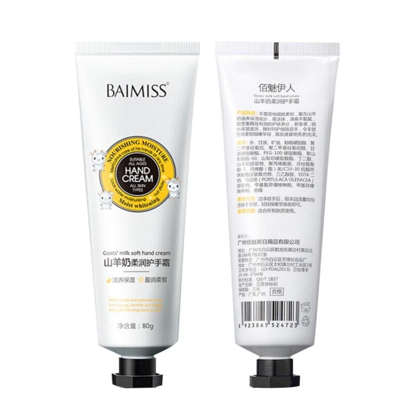 Goat Milk Essence Hand Cream Nourishing SkinCare Anti Chapping Anti Aging Moisturizing Whitening Cream HandCare Cream 6027