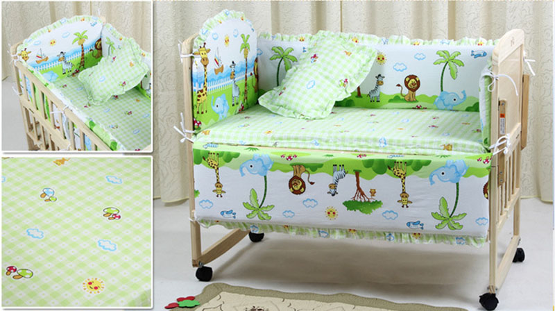 Cartoon Bed Baby Crib Bumpers example