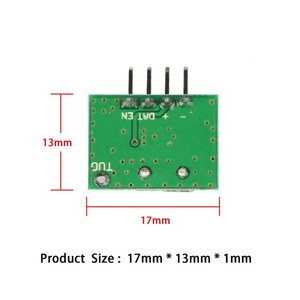Image 2 - QIACHIP 315Mhz Superheterodyne ASK RF Transmitter Module DC 1CH DIY Kits Wireless Remote Control For MCU Arduino Uno