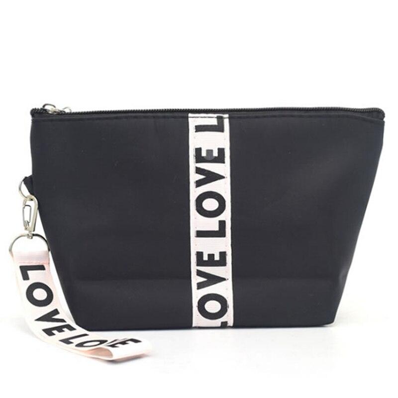 Fashion Striped Cosmetic Bag Women Travel Makeup Bag Zipper Make Up Organizer Storage Pouc