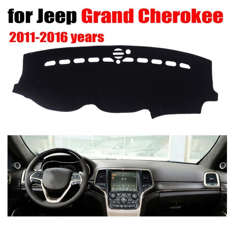 Tableau de bord de voiture couvre tapis pour Jeep Grand Cherokee 2011-2016 Gauche conduite à dashmat pad dash couverture auto tableau de bord accessoires