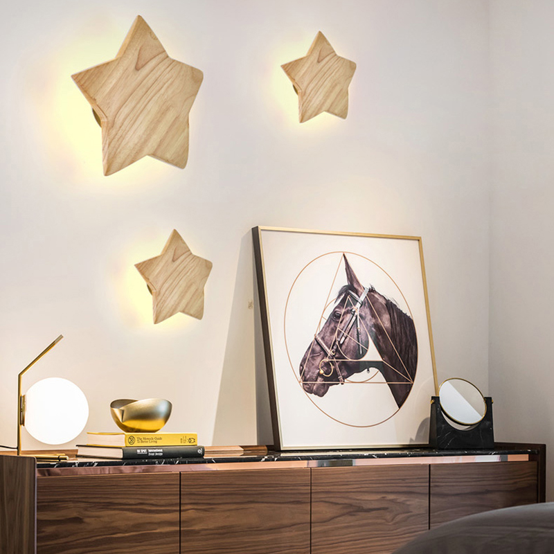 Oak Modern wooden Wall Lamp Lights For Bedroom Home Lighting,Wall Sconce solid wooden wall light Free Shipping цена 2017