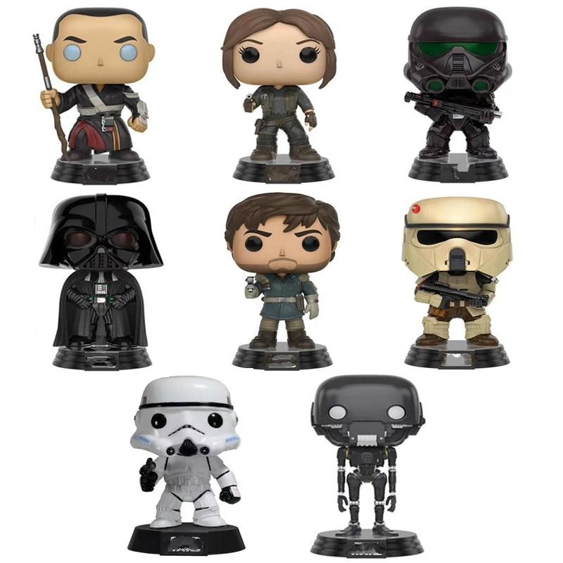 10cm Star Wars Figures Action The Force Awakens Black Series Darth Vader Stormtrooper Model Toy for Kids Toys Gift
