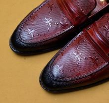 QYFCIOUFU 2019 Hot Handmade Italy Designer Party Wedding Office Formal Dress Shoes Men Genuine Leather Men Oxford Shoes EU 46