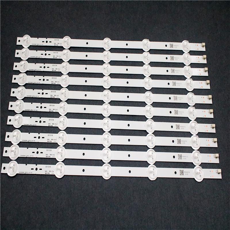 10 PCS/set LED Backlight Bar SVG400A81_REV3_121114 395mm 5 LEDs For KLV-40R470A KDL-40R450A