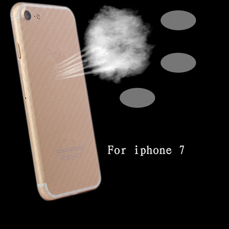 NOTOW (2 pcs / lot)Durable 3D Anti-fingerprint Carbon Fiber Back Stickers Screen Protector Film For iPhone7 8/iphone7Plus 8plus