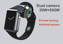Ourtime X8 Android Smartwatch Phone Bluetooth Smart Watch 1.3GHz Dual Core IP67 GPS Watch Cam 1G 8G google play 600mAh 3G WiFi