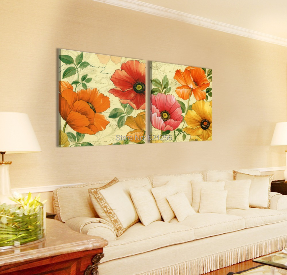 Charming Red Poppies Canvas Wall Art Ideas - The Wall Art ...