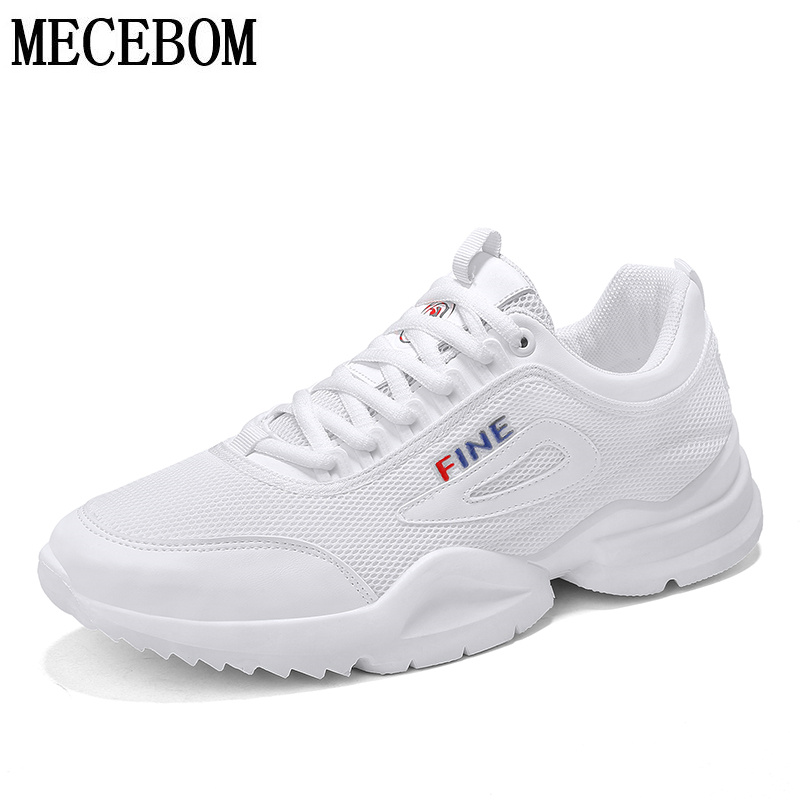 Summer breathable mesh Men casual shoes lace-up flats black/white/red footwears chaussure homme size 39-44 8901m men s leather shoes vintage style casual shoes comfortable lace up flat shoes men footwears size 39 44 pa005m