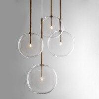 Claro simples criativo luzes de vidro bar café simples lustre ferro droplight experimental garrafa lampr vidro fosco Lustres     -
