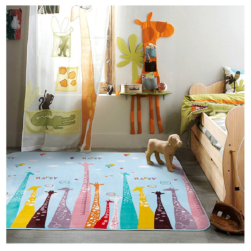 Nordic style cartoon animals animals giraffe baby play for Baby room decoration games online