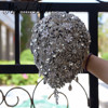 Custom Made Gray Luxurious Wedding Flower Bride Brooch Rhinestone Crystal Bouquet De Marie Artificial Bridal Wedding