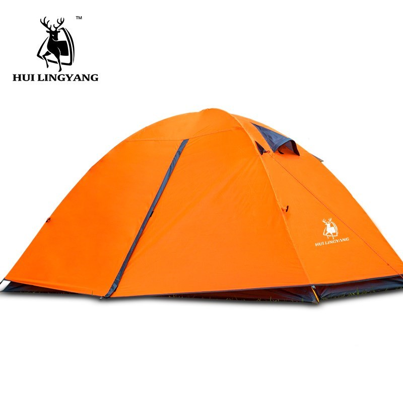 2 Person Ultralight Tent Outdoor Camping Double Layer Windproof Waterproof Portable Travel Tent 3 seasons Beach Travel Tents mobi outdoor camping equipment hiking waterproof tents high quality wigwam double layer big camping tent