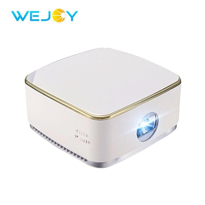 Wejoy Portable LED Mini Projecteur DL-S8 + Android 7.1 Poche Projetor DLP Beamer Mobile Téléphone Proyector Portatil HD Home Cinéma
