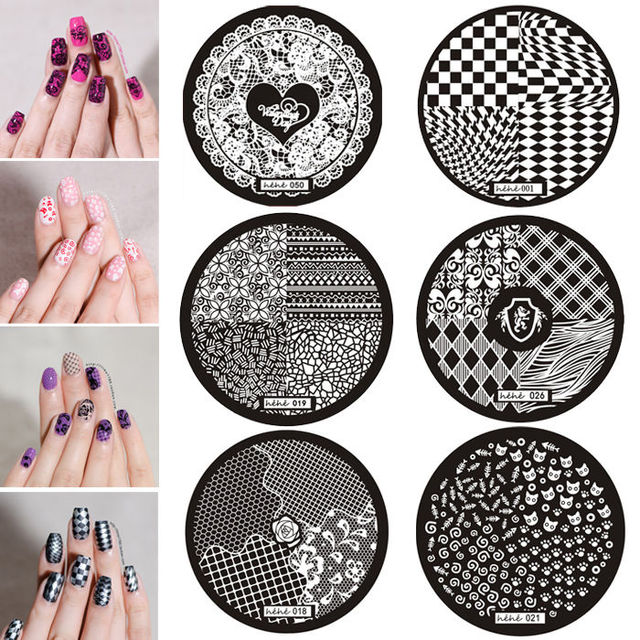 Hot Sale Premium Nail Art Image Stamp Stamping Plates Manicure ...