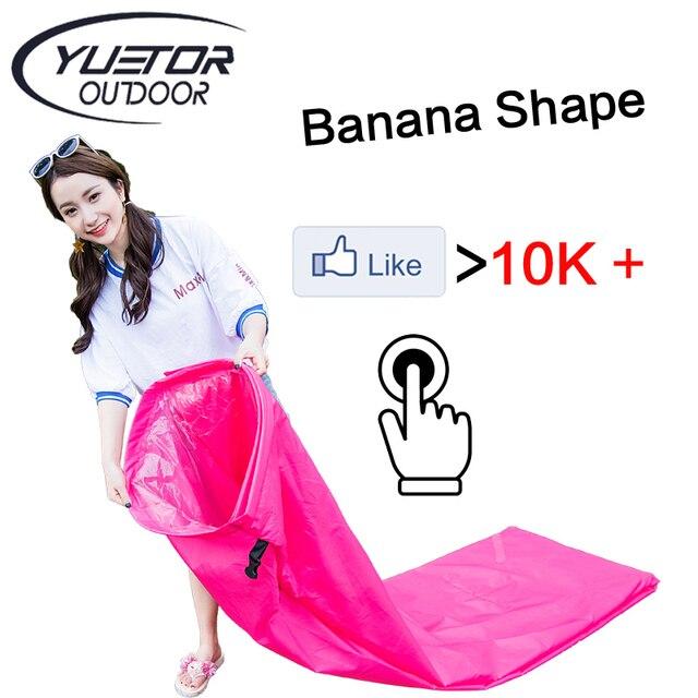 190 T Banana Shape Bãi Biển lười biếng túi Hangout Giường inflatable Không Khí lounger laybag nhanh folding ngủ inflatable air sofa lazy túi