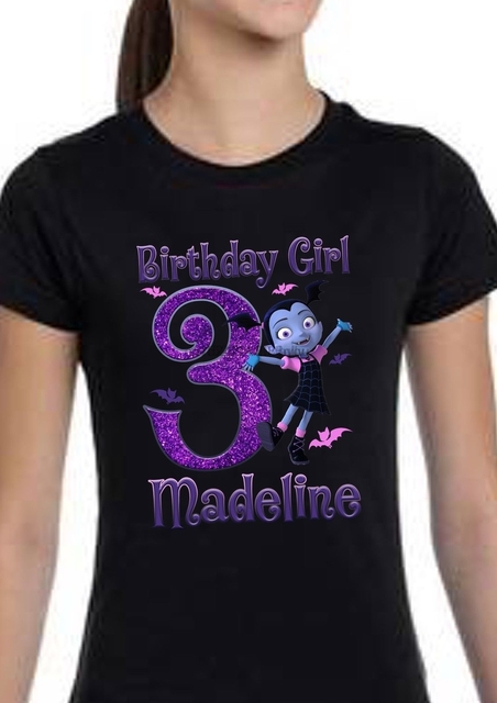 Vampirina Inspired Birthday Shirt Personalized Custom Name Age Party