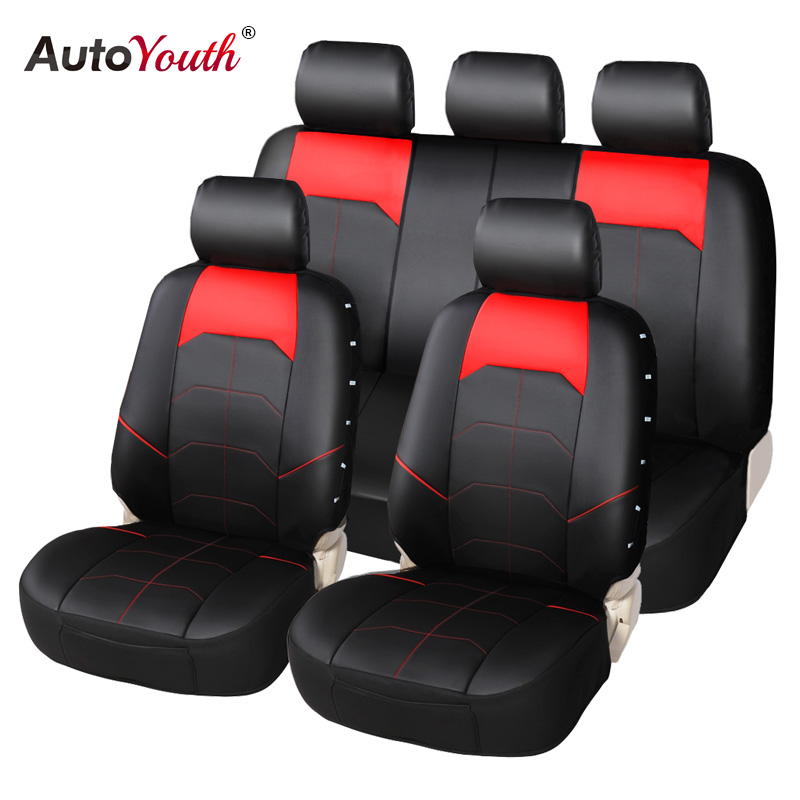 AUTOYOUTH Car Seat Cover PU Leather Universal Automobiles Seat Full Covers Car Accessories For Seat Protector With Organize Net 2017 luxury pu leather auto universal car seat cover automotive for car lada toyota mazda lada largus lifan 620 ix25