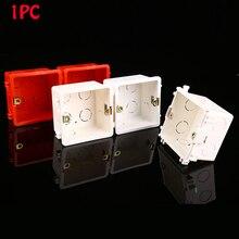 1 шт. распределительная коробка для монтажа в стену Стандартный Светильник сенсорный выключатель кассета распределительная коробка высокое качество ПВХ пластик огнестойкий Waring Back Box