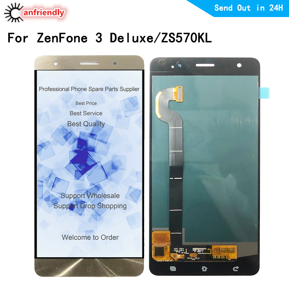 for ASUS ZenFone 3 Deluxe ZS570KL Z016D LCD Display Touch Screen Replacement Digitizer Assembly for ASUS