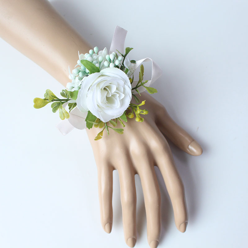 wrist flower bridesmaid wedding wrist corsage (13)